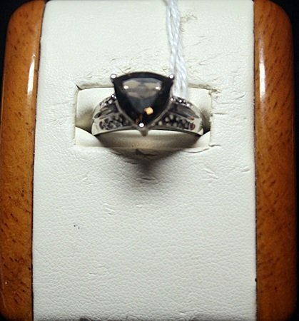 Beautiful Antique Style Triangle Cut Topaz Sterling