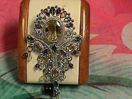 Fancy Shape Multi-color Gemstones Sterling Silver