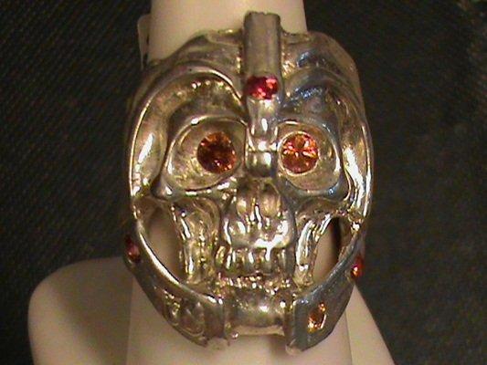 "Beautiful Royal Golden Mandarin Sapphire ""Huge Skull"""