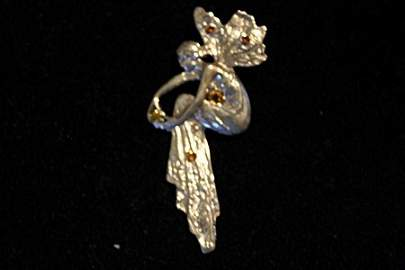Sterling Silver Handcrafted Sapphire Fairy Pendant
