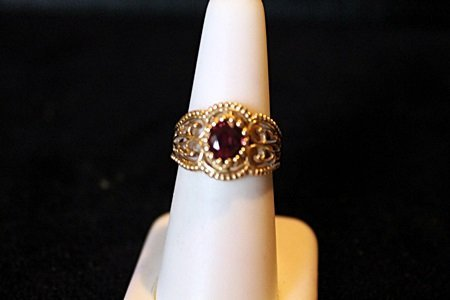 1.35ct Pigeon Blood Ruby 14kt Ring GIA $14,750.00