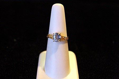 Cornflower Sapphire 14kt Ring GIA $4,650.00