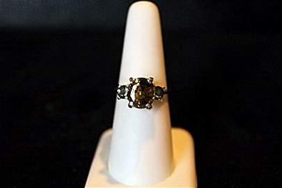 Natural Huge 4.68ct Alexandrite & Sapphire 14kt Ring