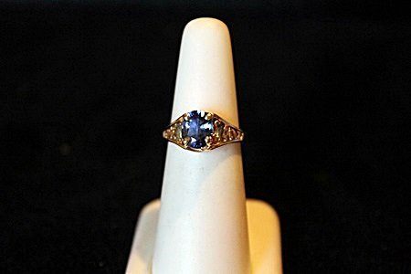 Sapphire & Alexandrite 14kt Ring GIA $11,850.00