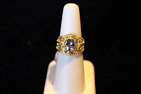 Natural Fancy Maquise Tanzanite 1.14ct  14kt Ring