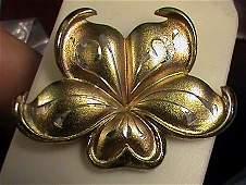 Gorham Diamond Cut Solid Sterling Silver Vermeil Gold