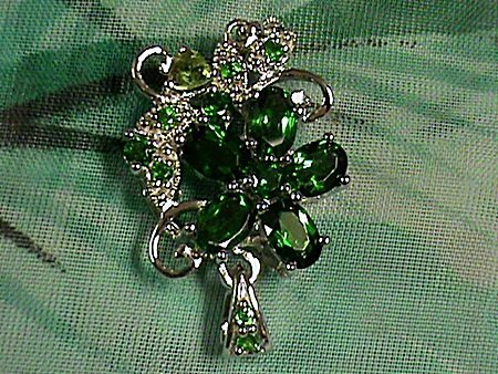 Beautiful Chrome Diopside with with Peridots Sterling