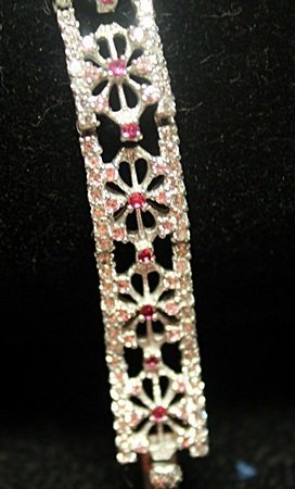 Beautiful Sterling Silver Ruby & White Sapphire