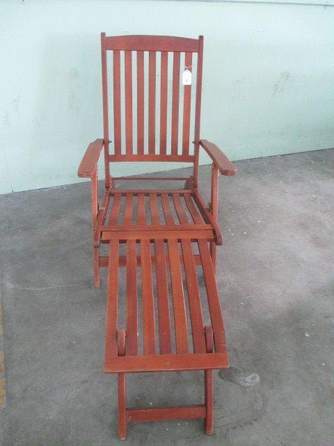 Wood Pool Deck Chair