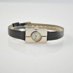 2 Art Deco ladies wristwatches with enamel inserts