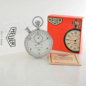 HEUER rare stop watch with rattrapante