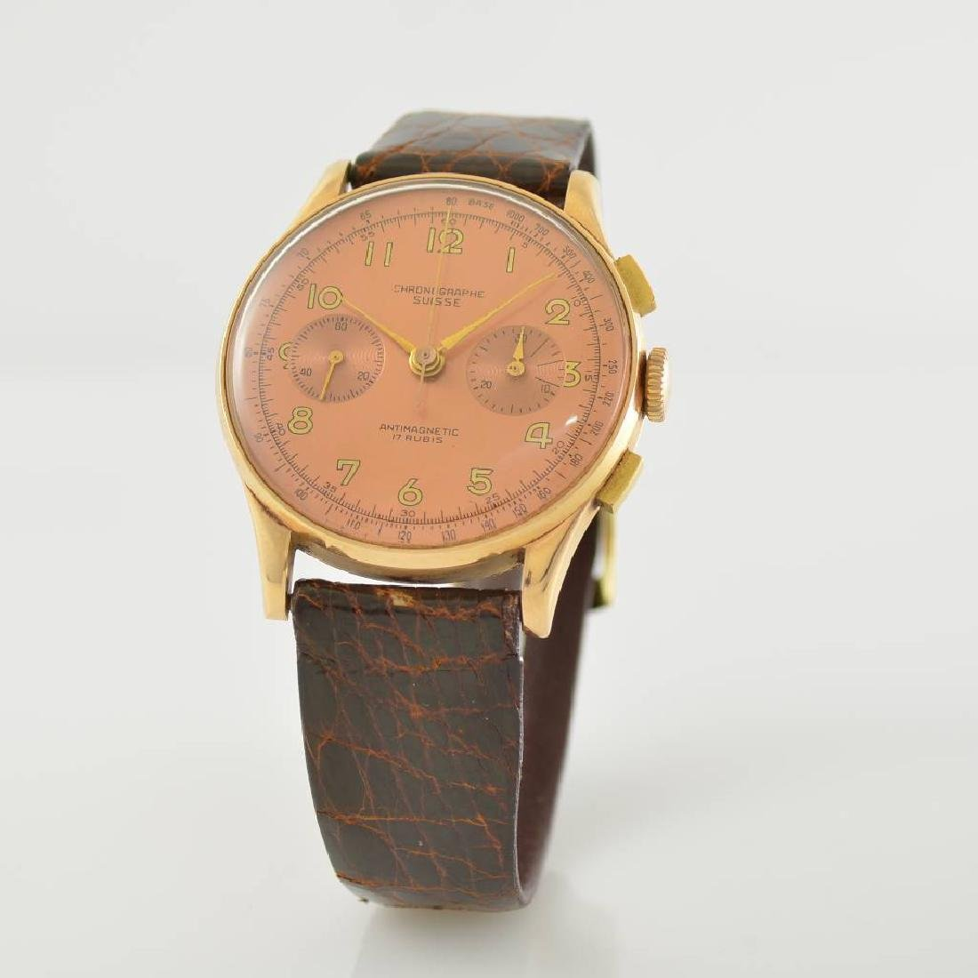 CHRONOGRAPH SUISSE 18k pink gold chronograph - 3