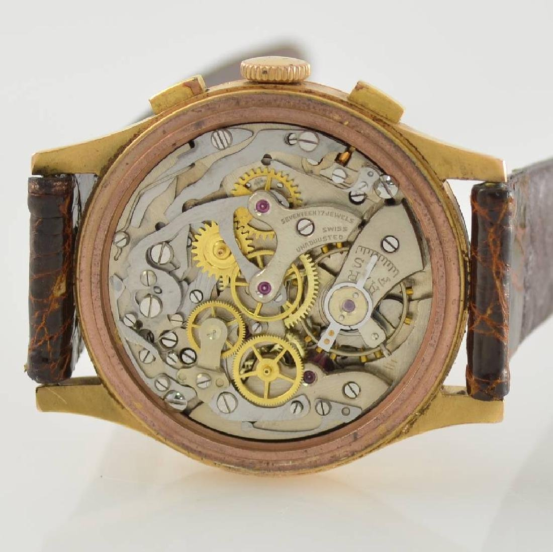 CHRONOGRAPH SUISSE 18k pink gold chronograph - 6