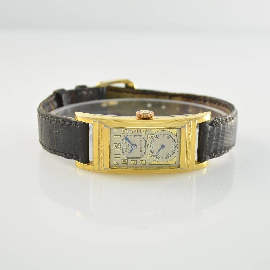 GRUEN gilt rectangular gents wristwatch