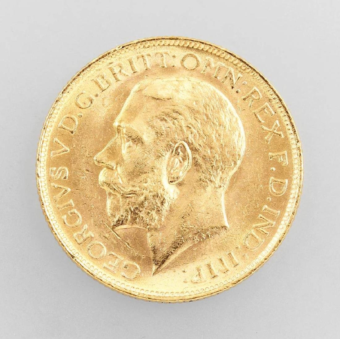 Gold coin, Sovereign, Great Britain, 1915