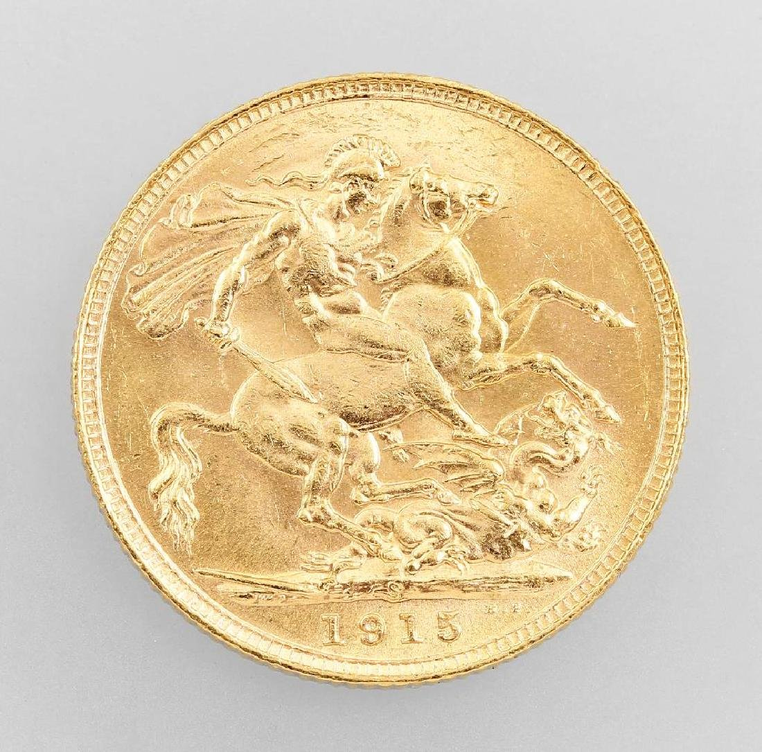 Gold coin, Sovereign, Great Britain, 1915 - 2