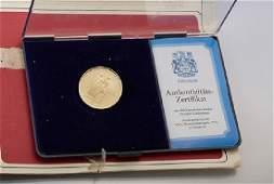 Gold coin, 100 Dollars, Canada, 1976