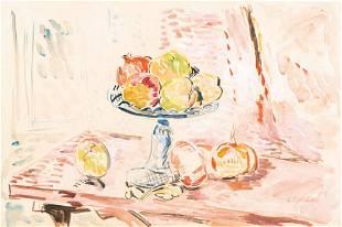 Hans Purrmann, 18810-1966, still life with fruits