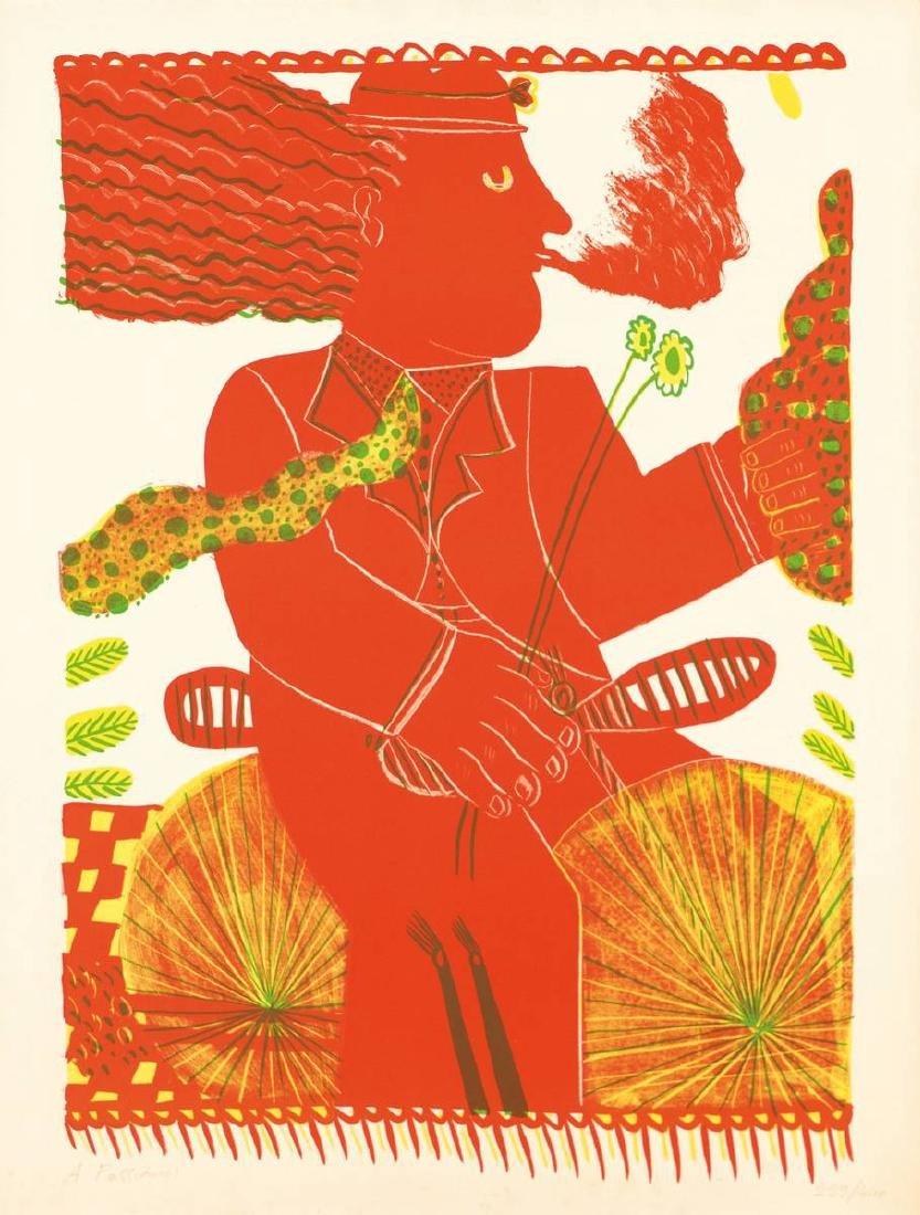Alexandre Fassianos, born 1935, color serigraph