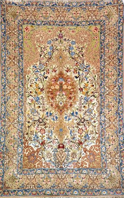 Isfahan (Silk Grounded) 'Shahabpour' Rug (Signed),