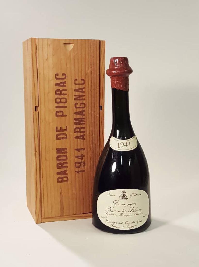 1 bottle 1941 Baron de Pibrac Armagnac