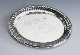 Tray, german ca. 1890/1891, 800 silver