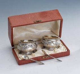 Pair spice-jars with orig. spoons, France ca. 1890/1900