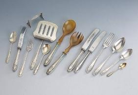 Table service, 800 silver, manufacturer's brand