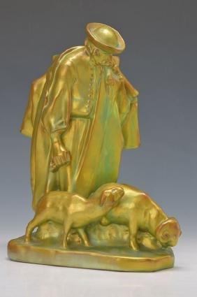 Large figure, Zsolnay