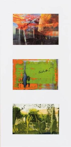 Gerhard Richter, born 1932 Dresden, convolute of three