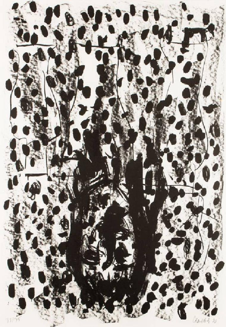 Georg Baselitz, born 1938, lithograph on handmade