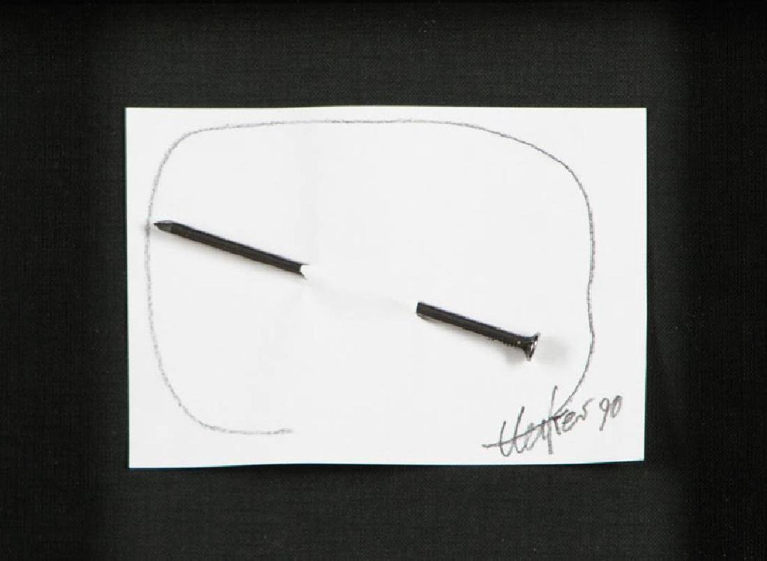 Günther Uecker, born 1930, nail picture, pencil/nail