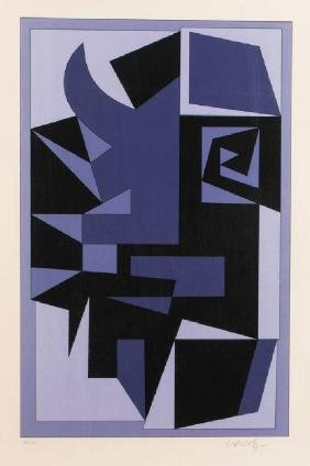 Victor Vasarely, 1906-1997, Kwartz, color serigraph