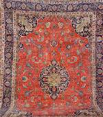 Large Kurk Kashan Carpet,