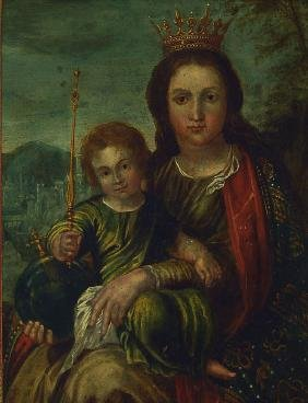 Flemish master of the 16th / 17th , Virgin Mary as