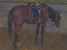 Animal painter of the 19th / 20th century, riding