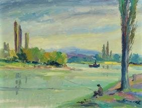 Robert Lauth, 1896-1985 Ludwigshafen, angler at the