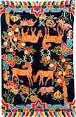 Tibetan Shigatse 'Goyul Hanging-Rug',