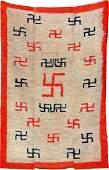 Rare Tibetan Tsukdruk Rug Swastika Design