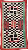 Rare Tibetan Tsukdruk Rug Swastika CeckersBoard