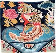 Tibetan Shigatse 'Goyul Hanging-Rug' (Peacock Design),