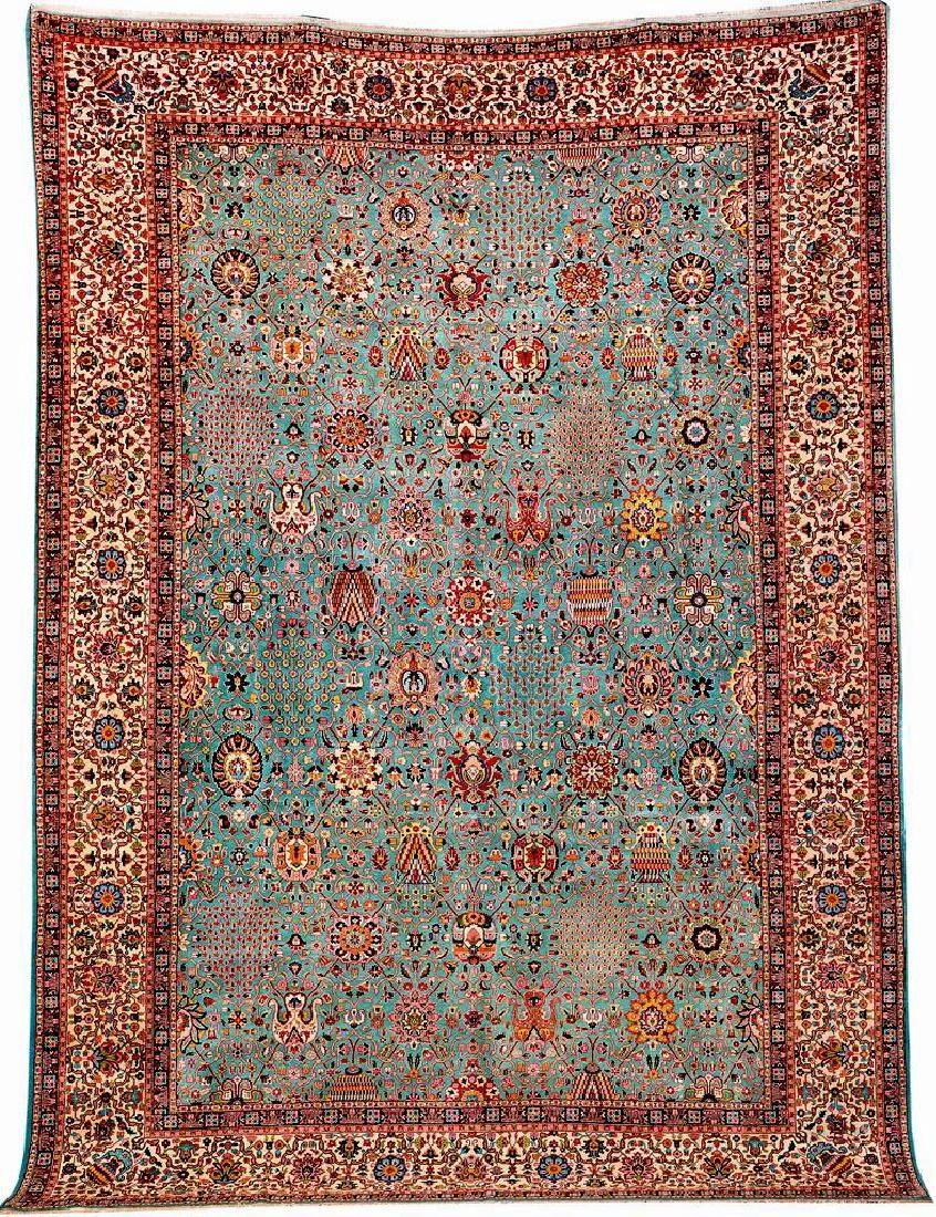 Fine Tabriz 'Carpet' (Kerman-Vase Safavid Design),