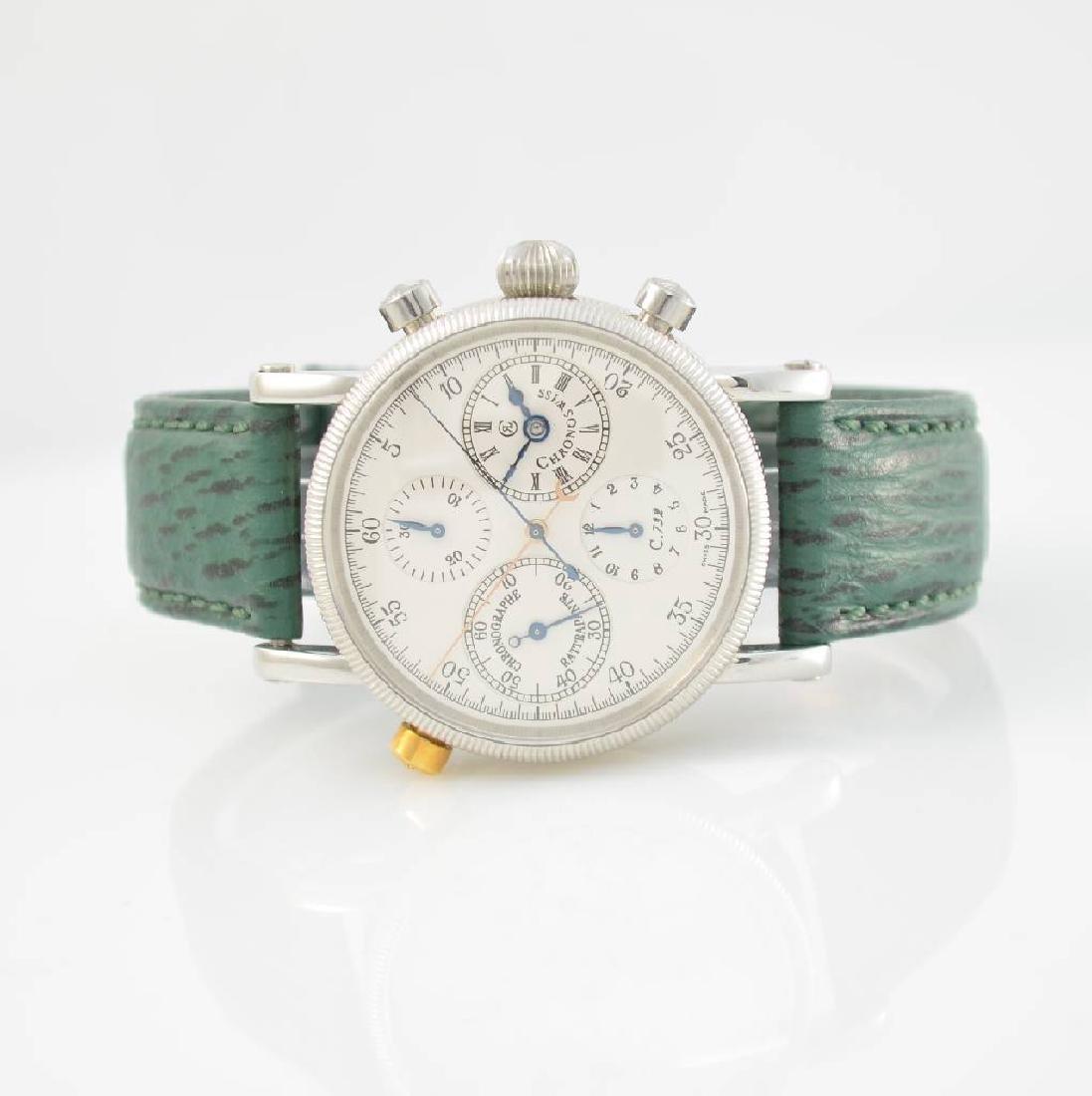 CHRONOSWISS chronograph Rattrapante gents wristwatch