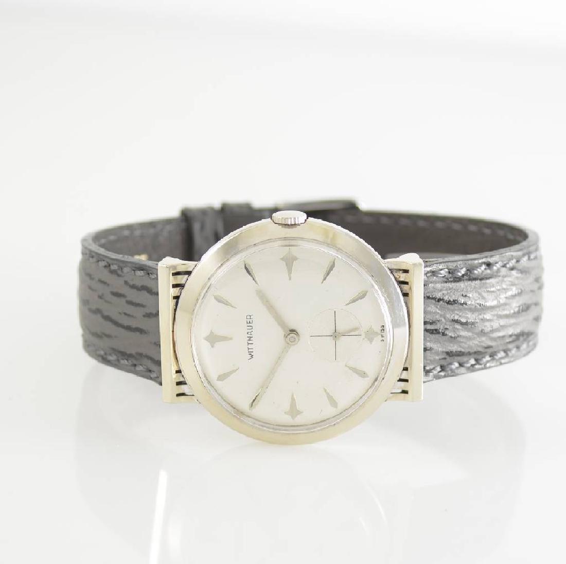 WITTNAUER New York unusual 14k white gold wristwatch