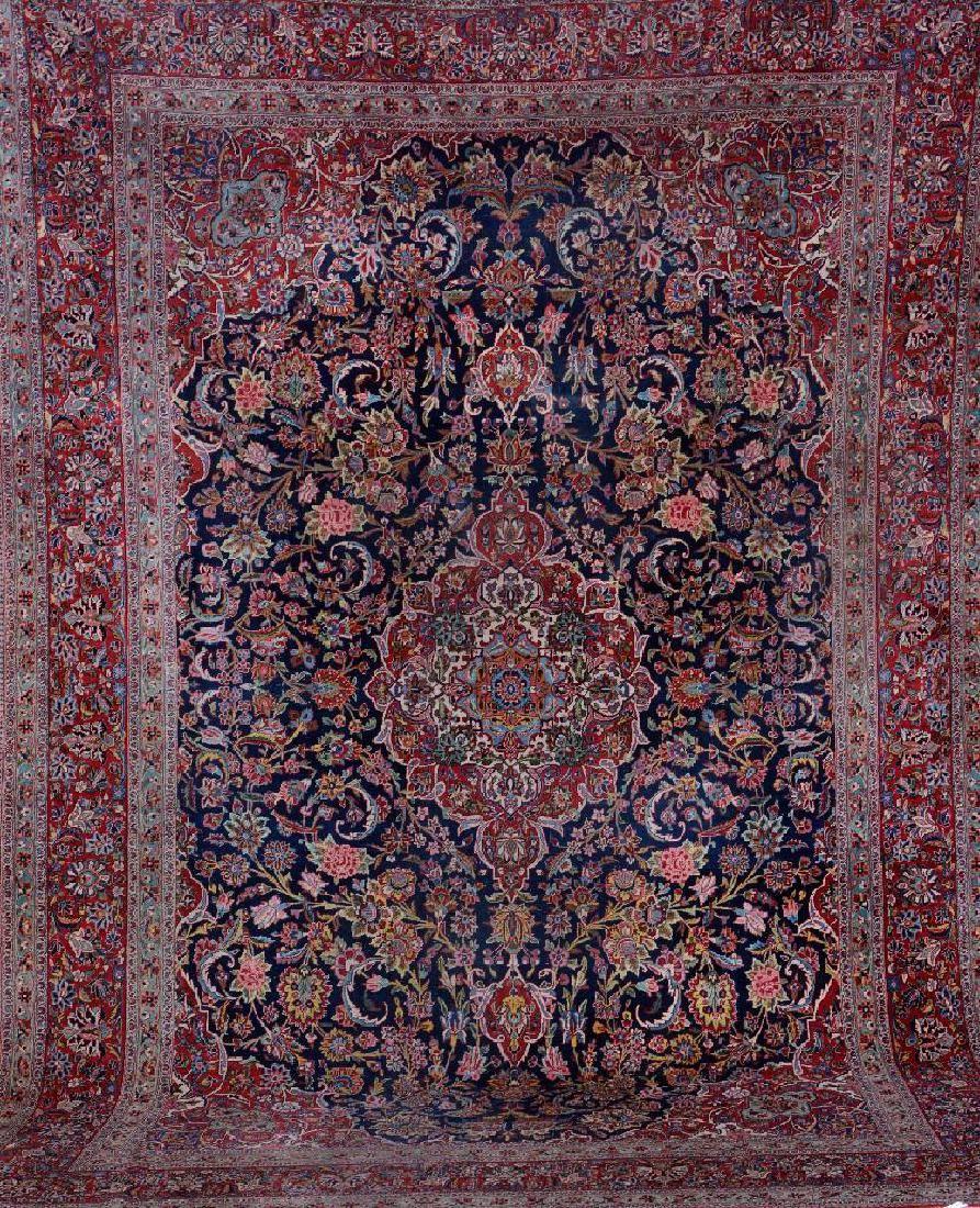 Kurk Kashan Carpet,