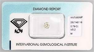 Loose old cut diamond 079 ct CapeMvs2 sealed