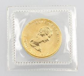 Gold Coin 5 Dollar 1987, Canada