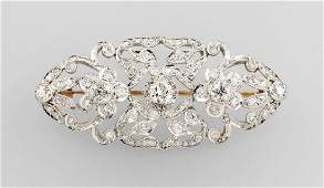 Brooch with diamonds platinum tested