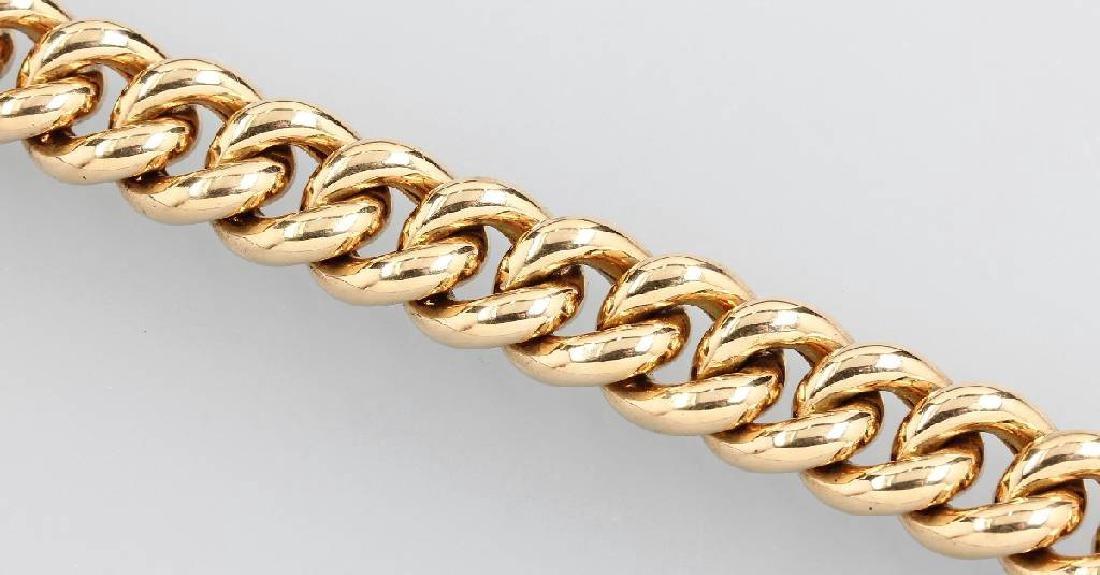 Solid 18 kt gold curb bracelet