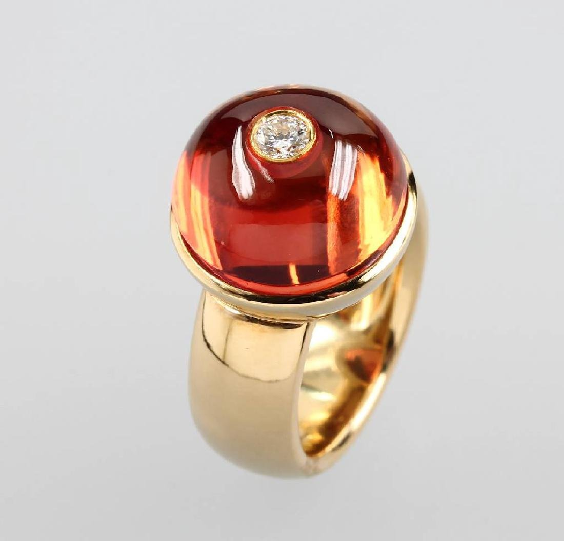 18 kt gold CADEAUX ring with brilliant